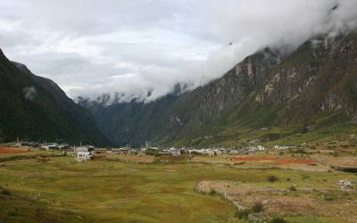 Langtang Valley and Tsercori peak