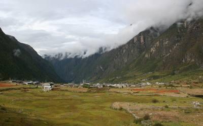 Langtang Valley and Tsercori peak